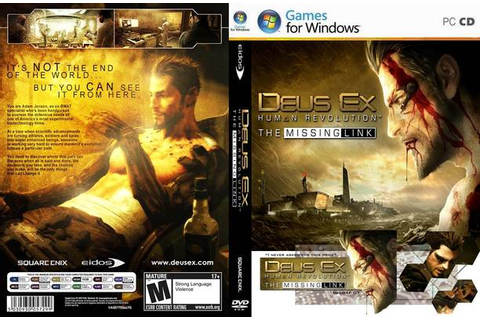 PC Games CD Cover: Deus Ex Human Revolution The Missing ...