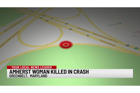Amherst woman dead in DC-area highway crash