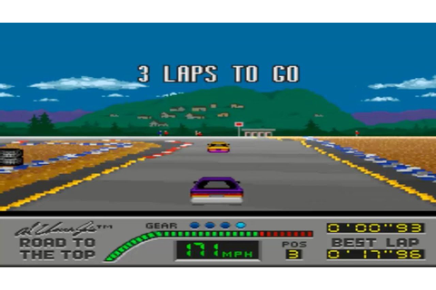 Al Unser Jr's Road To The Top (SNES Gameplay) - YouTube