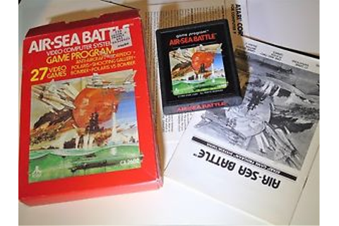 COMPLETE Game Air Sea Battle White Logo Letters Atari 2600 ...