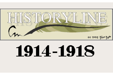 History Line 1914-1918 (1992) by Blue Byte MS-DOS game