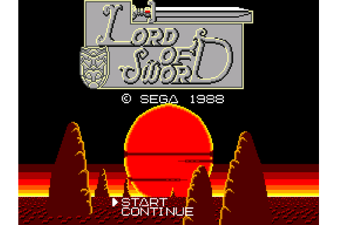 Lord of the Sword - Game: Title Screenshot