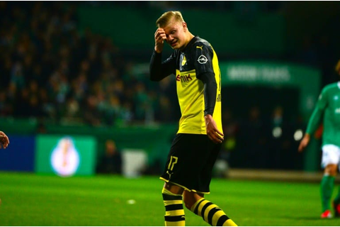 Haaland goal not enough as Werder dump out Dortmund ...