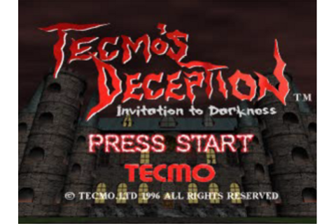 Play Tecmo's Deception - Invitation to Darkness Sony ...