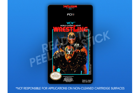 NES - WCW World Championship Wrestling Label | Retro Game ...