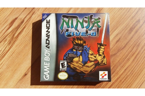 Ninja Five O Ninja cop Gameboy Advance GBA box only by ...