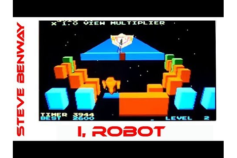 I, Robot Atari arcade game, playing on the mame emulator ...