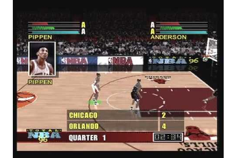 Total NBA 96 Playstation Psone 1996 Gameplay ( Oldies ...