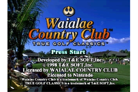 Waialae Country Club - True Golf Classics (USA) ROM