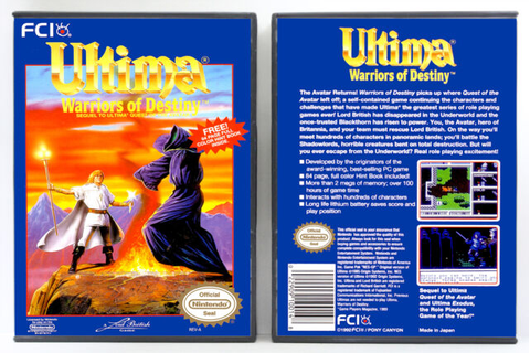 Ultima V: Warriors of Destiny - Nintendo NES Custom Case ...