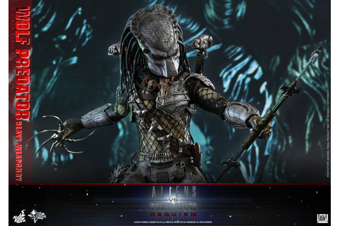 Hot Toys Aliens vs Predator: Requiem Wolf Predator Figure ...