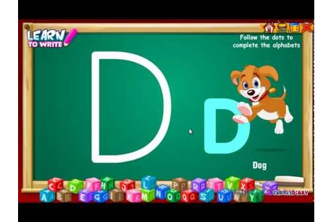 Learn to Write Uppercase Letters | Alphabet Writing Game ...