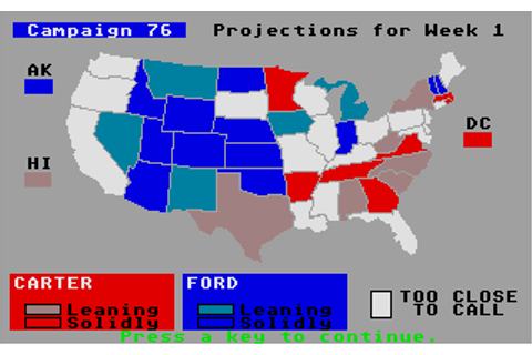 President Elect: 1988 Edition Screenshots for Atari ST ...
