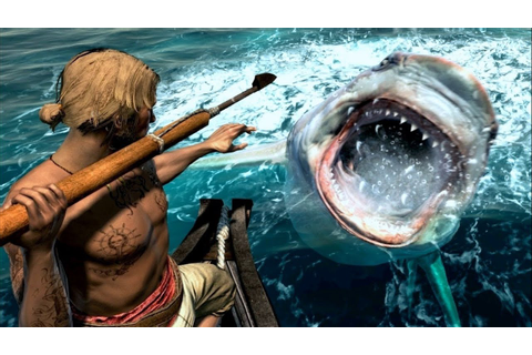 Assassin's Creed 4 Hunting JAWS Great White Shark - YouTube
