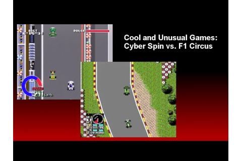 Cool and Unusual Games: Cyber Spin (Super Nintendo) vs. F1 ...