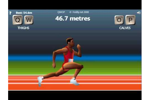 QWOP 100 Meters - So close! - Actually Running - YouTube