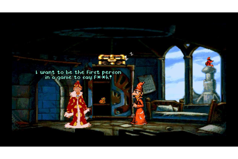 "Discworld II - Rincewind Says ""F%#K!"" - Best Video Game ..."
