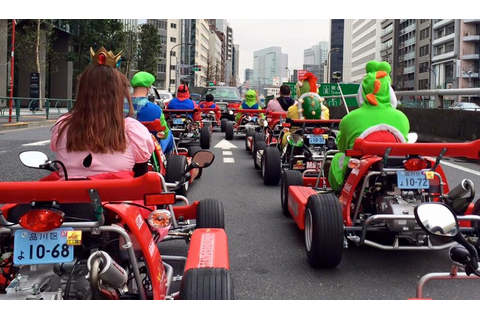 Race Through the Streets of Tokyo in Classic Mario Kart ...