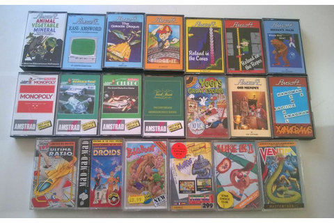 25 AMSTRAD CPC 464/664/6128 GAMES AND 2 STORAGE CASES | in ...