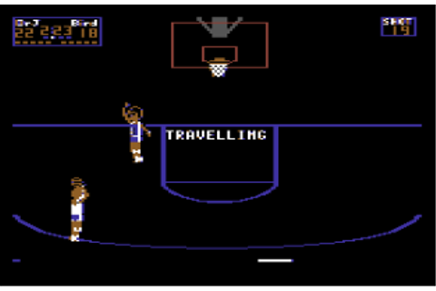 One on One: Dr. J vs. Larry Bird, Commodore 64 | The King ...