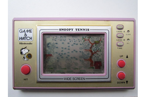 Nintendo Game and Watch Snoopy Tennis - Catawiki