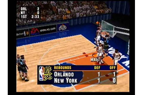 nba live 96 ps1 gameplay magic vs knicks - YouTube