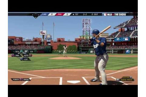 MLB 10: The Show - Dodgers at Phillies Gameplay - YouTube