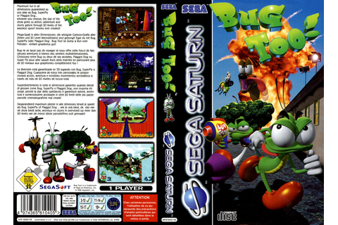 Sega Saturn B Bug Too E Game Covers Box Scans Box Art CD ...