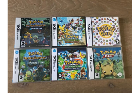 6 Pokemon Nintendo DS games. Like Pokemon Dash and more ...
