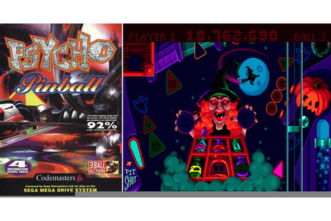 Play Psycho Pinball on Genesis