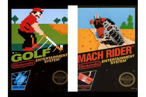 CGRundertow GOLF / MACH RIDER for NES Video Game Review ...