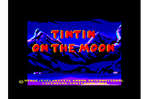 Tintin sur la Lune by Infogrames on Amstrad CPC (1989)