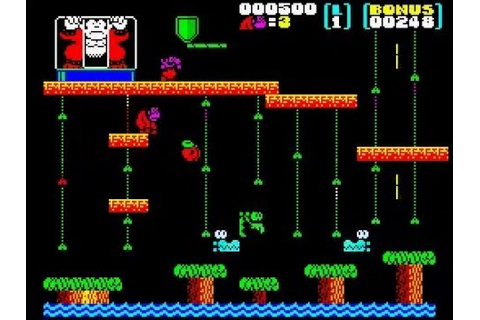 Donkey kong Jr-Zx Spectrum - YouTube