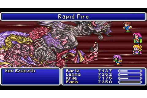 Final Fantasy V (GBA) Final Boss Battle - YouTube