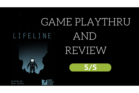 Lifeline - iOS Game Review - 5/5 buy it - YouTube