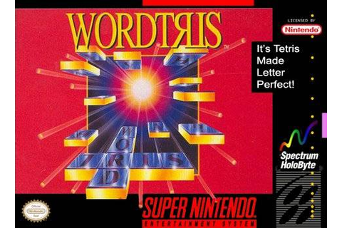 Wordtris SNES Super Nintendo