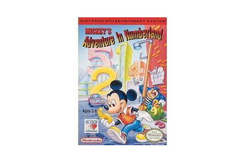 Mickey's Adventure in Numberland - Nintendo Famicom game