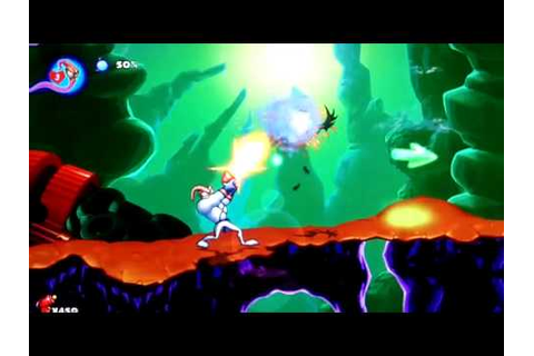 Earthworm Jim HD gameplay, PSN game for PS3 - YouTube
