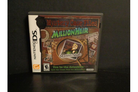 Mystery Case Files - MillionHeir Nintendo DS game used | eBay