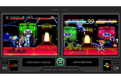 World Heroes (Sega Genesis vs Snes) Side by Side ...