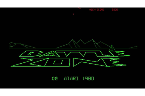 Battle Zone (Atari 1980) Attract Mode 60fps - YouTube