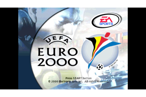 Sony Playstation, PS1 Retro FIFA UEFA Euro 2000 Intro ...