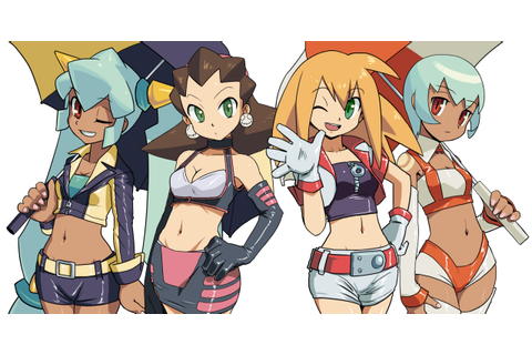 Megaman Legends Ladies Line Up | Mega Man / Rockman | Know ...