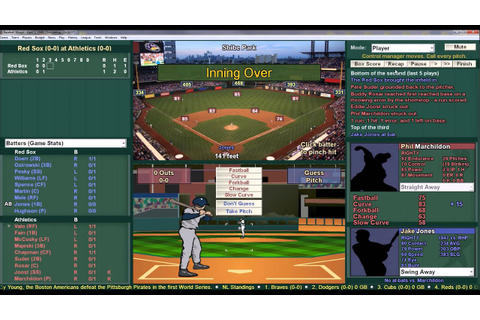Baseball Mogul Diamond Gameplay - YouTube