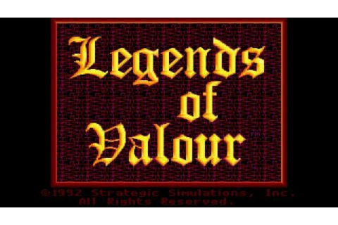 Legend of Valour gameplay (PC Game, 1992) - YouTube