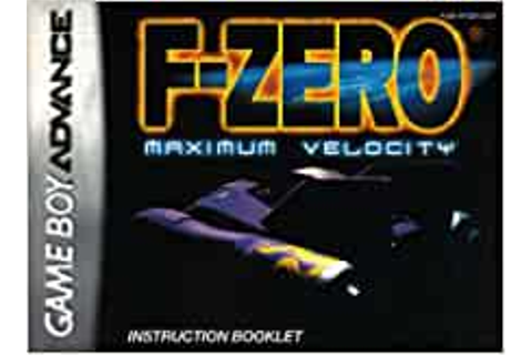 F-Zero - Maximum Velocity GBA Instruction Booklet (Game ...