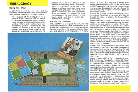 'Bureaucracy' Board Game, 1981