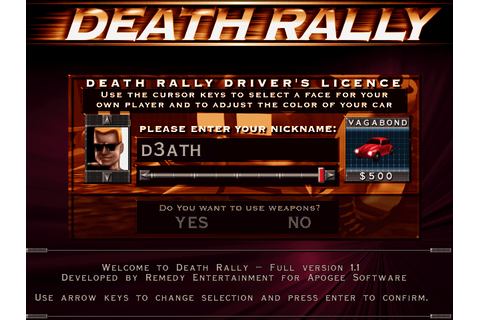 Download Death Rally - My Abandonware