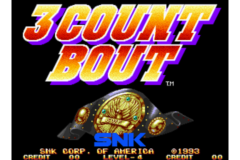 VGJUNK: 3 COUNT BOUT (NEO GEO)