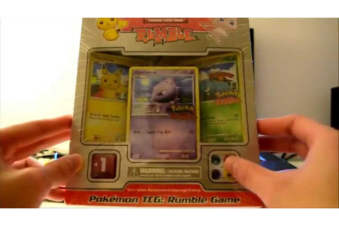 Pokemon TCG: Rumble Game Unboxing - YouTube